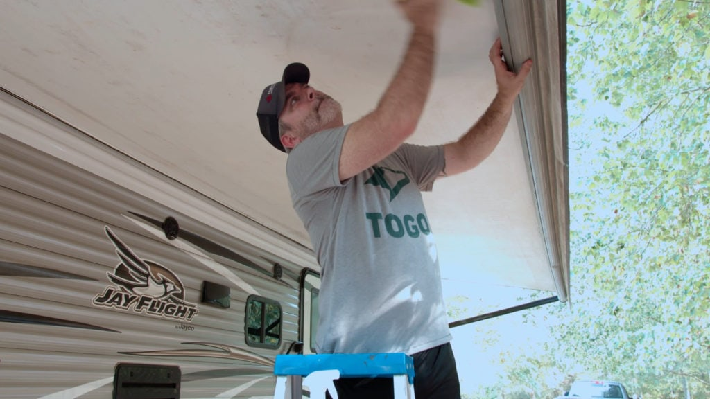Cleaning RV awning