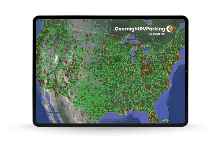 Unlimited access to 15,000+ overnight RV parking locations