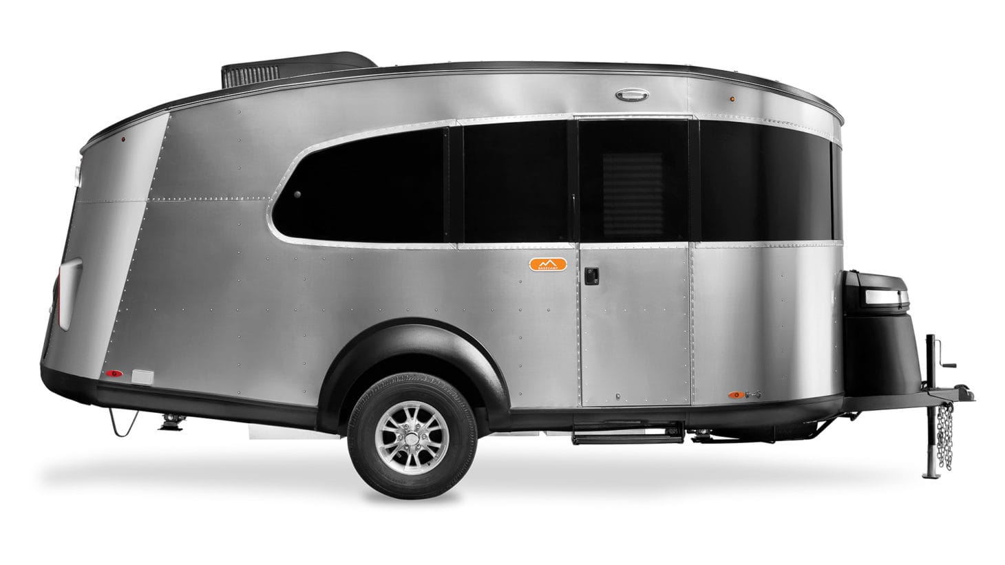 A product photo of the Airstream Basecamp set on a white background