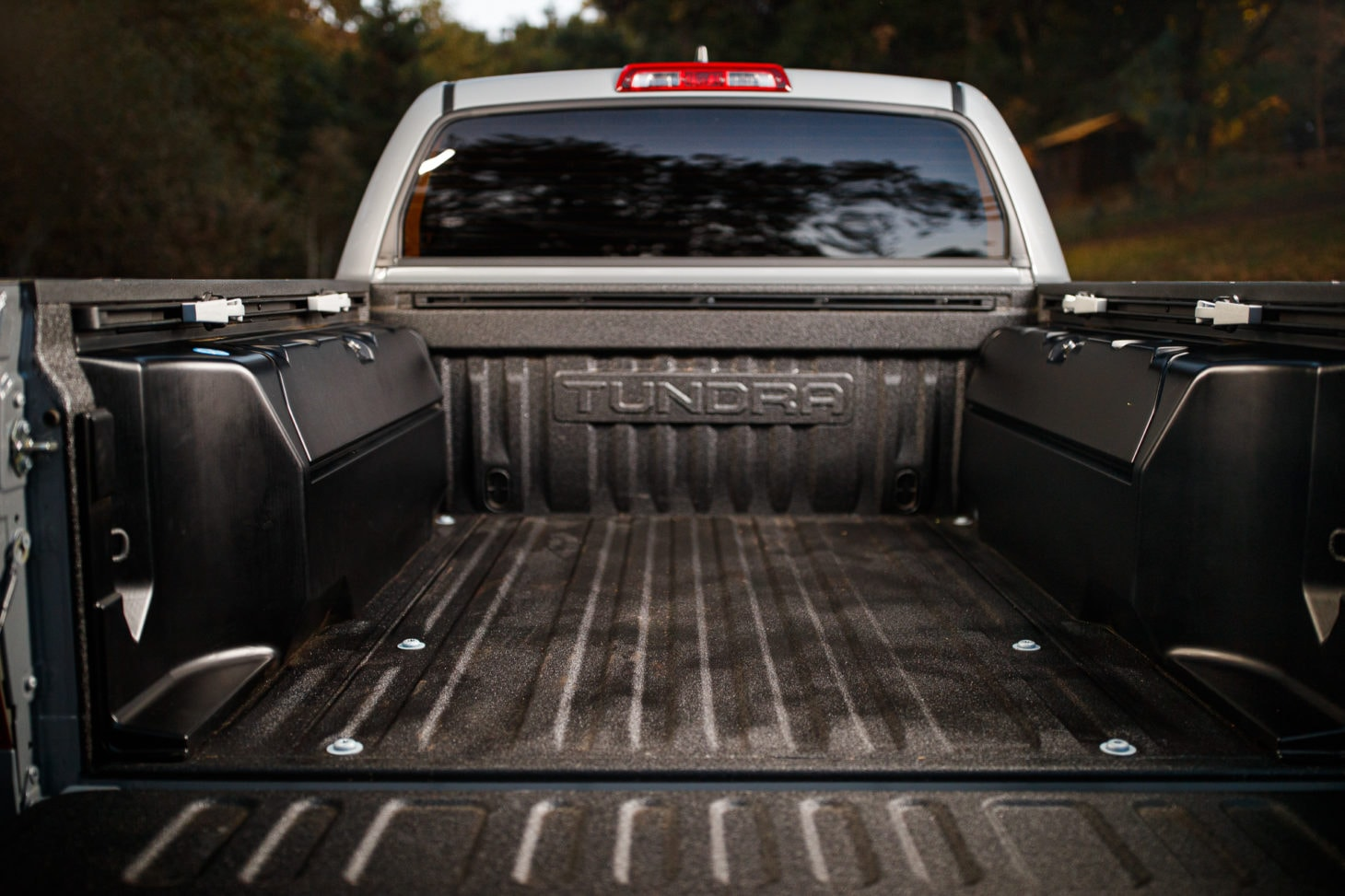 View of an empty truck bed