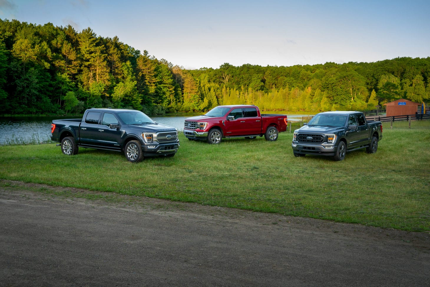 Group of Ford pickup trucks