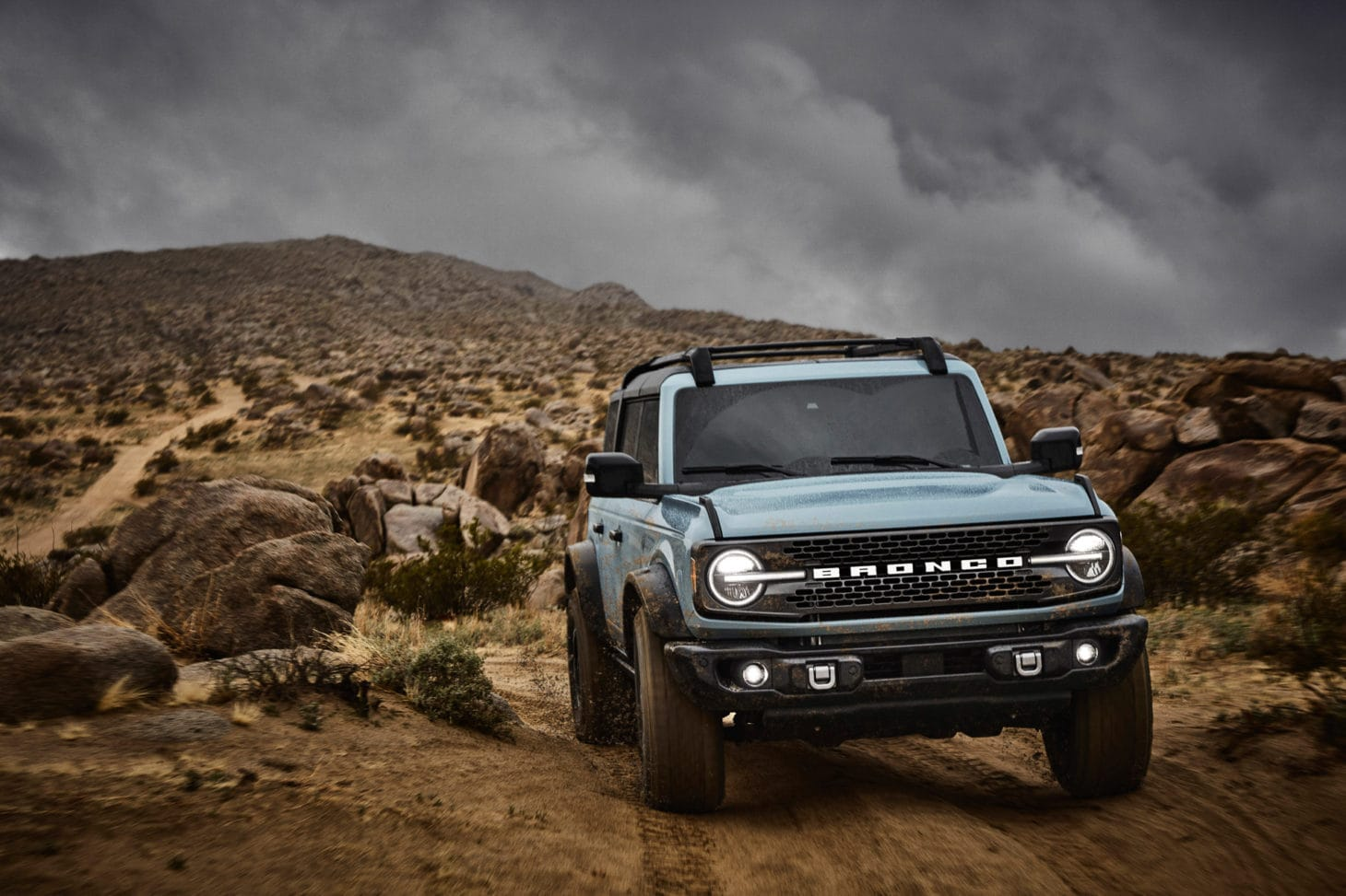 Ford Bronco concept vehicle off-roading