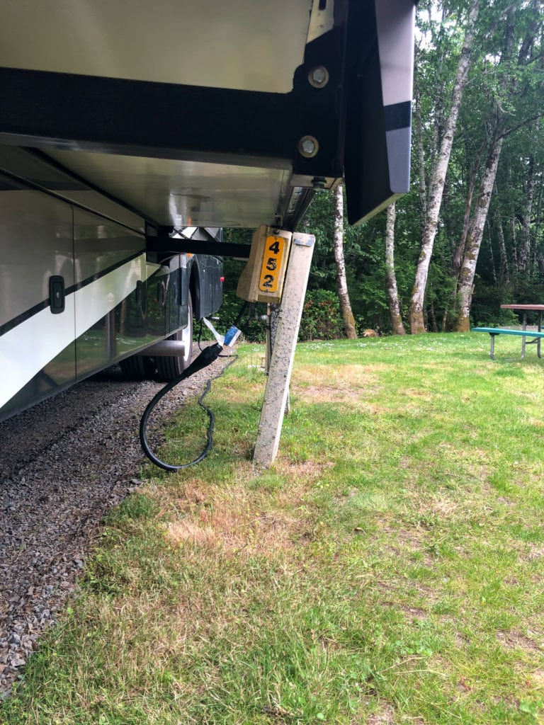 Situation to avoid when RVing: pulling out your slide over an obstruction