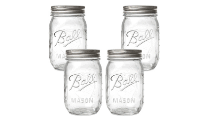Mason Jars with Lids and Bands